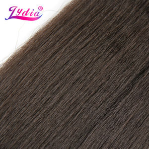 Image 3 - Lydia For Women Kinky Straight Wave 12 22 Inch Synthetic Weaving Hair Extension Pure Color #4  Hair Bundles  110g/Pack