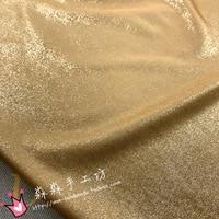 2018 Bazin Riche Getzner Electro optic Material Golden Flash Bronzing Soft Metallic Fabrics Swimsuit Package Hip Skirt Fabric