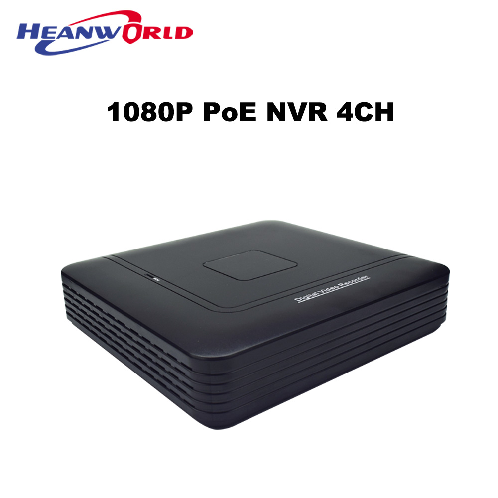 Mini POE NVR 4CH 1080P 2MP Full HD Network Video Recorder CCTV System For PoE Cam