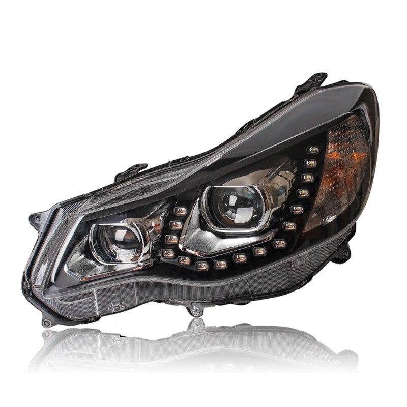 Ownsun LED U-bar Diamond Tear Eye DRLs HID Bi-Xenon Projector Len Original Replacement Headlights For Subaru XV 2012-2015