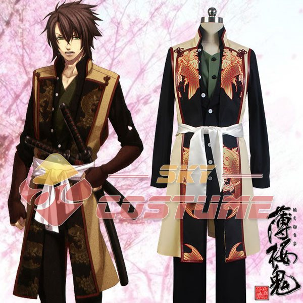 Hakuoki Souji Okita Swordman Men Uniform Cosplay Costume Party Christmas Halloween Carnival Full Set Free Shipping