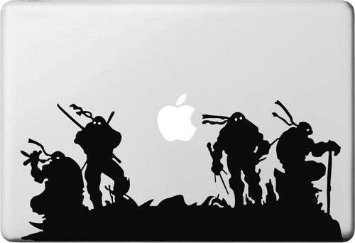 Cartoon Ninja Turtles Sticker for Apple Macbook Air 11 12 13 Pro 13 15 17 Retina Decal Laptop Car Skins Versatile Vinyl Pegatina