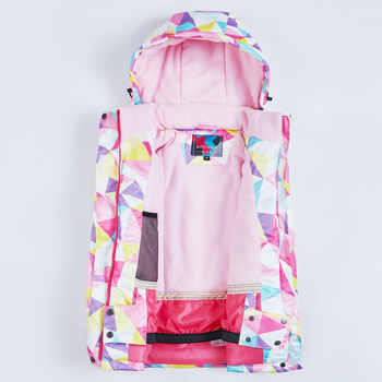 Ski jacket children\'s brand new high quality children windproof waterproof snowsuit winter girls ski and snowboard jacket
