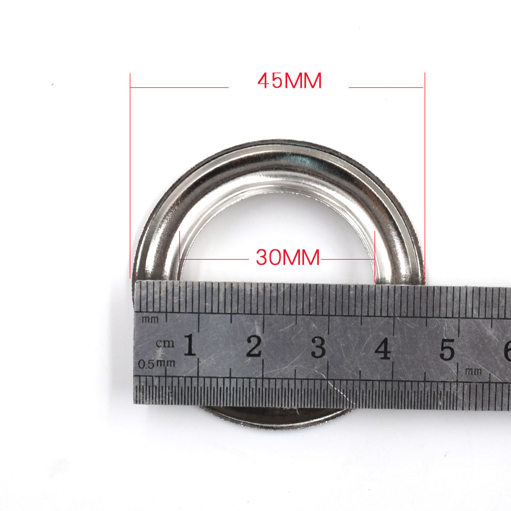 30pcs lot 30mm Metal hole Ventilation holes Eyelets Silver metal corns Canopy cloth rope hole Clothing Accessories in Garment Eyelets from Home Garden