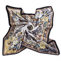 Square Silk Scarf For Women Luxury Designer Brand Ladies Scarves Female Hijab 90*90cm