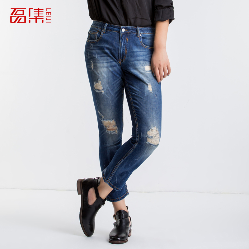 Plus Sizes 6XL ripped jeans for women Fashion Style Pants New larger Size Female Trousers big size casual  jeans woman