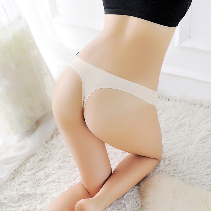 Buy Low Waist G String Briefs Women Invisible Panties Sexy Comfortable Panties Solid Underwear Intimates Seamless Panty Ladies Thon