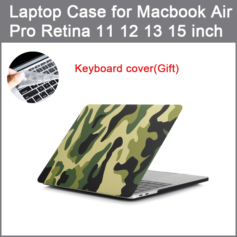Camouflage Laptop Case for MacBook Air 13 A1466 Pro Retina 11 12 13 15 touch bar shell For <font><b>mac</b></font> book <font><b>cover</b></font> + Keyboard <font><b>cover</b></font> image