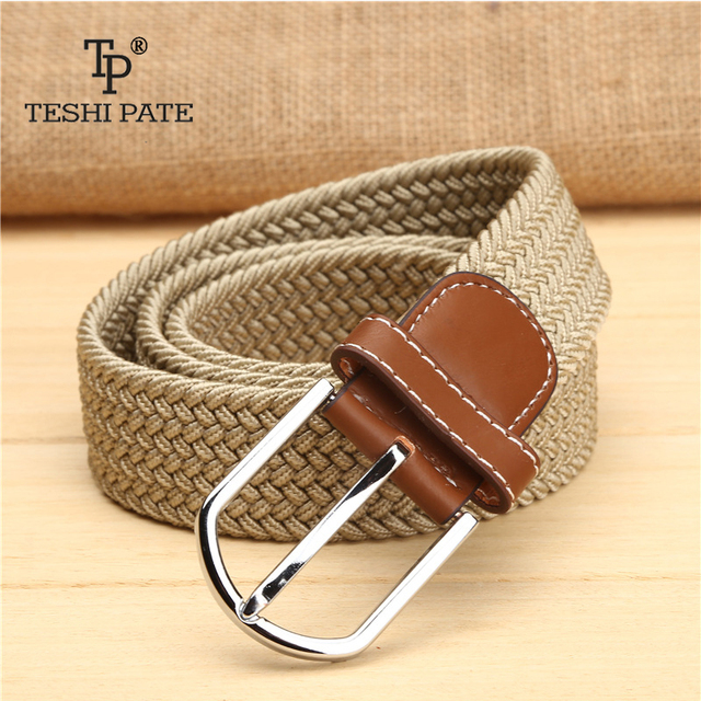 elastic belt knitted canvas belt decoration belt female pin buckle canvas strap women and man 2018 3
