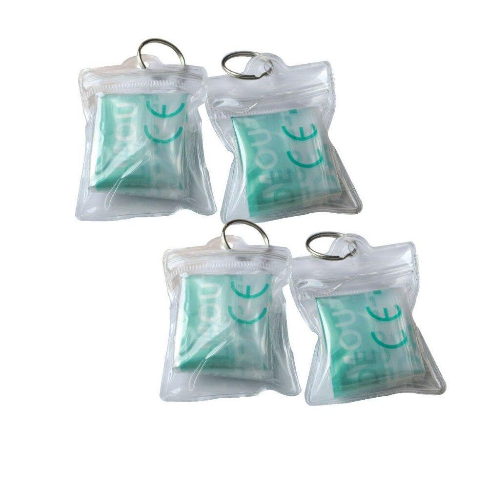 200 шт./упак. оптовая продажа Портативный первой помощи Trainging уход за кожей лица щит маска для искусственного дыхания и сердечнолегочной реа