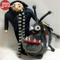 New 2 PCS Minions Kyle with Villain Gru Papa Despicable Me 2 Cartoon Toys Anime Soft Stuffed Plush Doll Russian Brinquedos