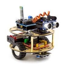 Интеллектуальный Набор для обучения автомобилей Робот Интеллектуальный черепаха Беспроводное управление на основе Arduino робот набор для сборки автомобиля