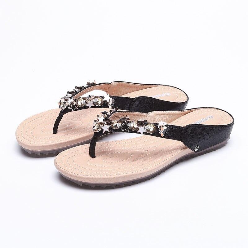9102 mujer de verano nueva moda Zapatos de playa de la edición de han joker estrella de cinco puntas lleva fuera
