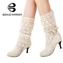 Fabrikverkauf geben verschiffen high heel sommer stiefel mode ausschnitt bogen frauen kleid sandalen big size 34-43 heißer verkauf SA375