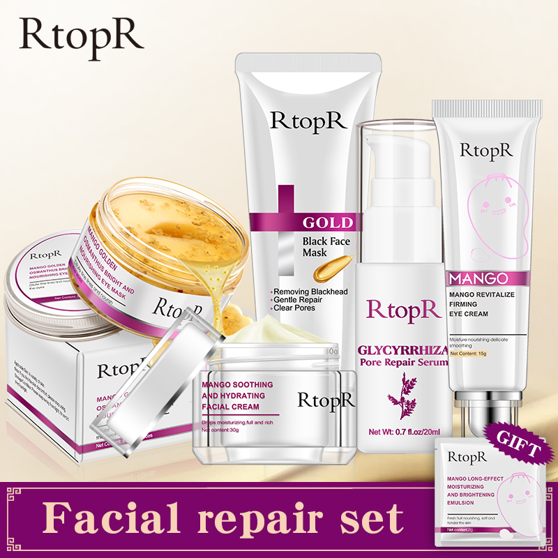 Glycyrrhiza Face Pore Repair Serum Anti-Aging Eye Cream Face Cream Gold Remove Blackhead MaskBright And Nourishing Eye Mask Set