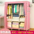 FREE Shipping Wardrobe Closet Large And Medium-Sized Cabinets Simple Folding Reinforcement Receive Stowed Clothes
