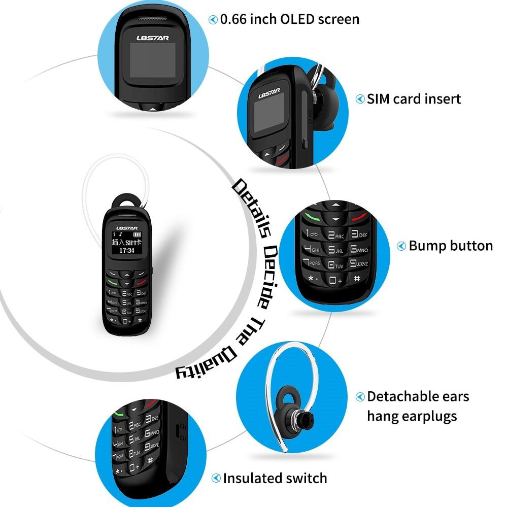 Mosthink L8star 2G GSM Bm70 Mini Mobile Phone Wireless Bluetooth Earphone Cellphone Stereo Headset Unlocked GTSTAR Small Phone