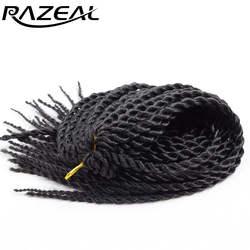 Razeal 6 шт. 30strands нота косы ombre плетение волосы Синтетические Расширения Малый Сенегальский крутить волосы Высокое Температура