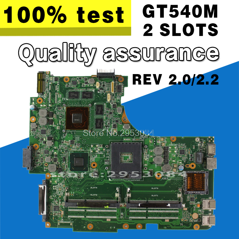 все цены на Original for Asus N53S N53SV Rev 2.0 2 slots GT540M 2G USB3.0 2.0 N12P-GS-A1 HM65 PGA989 laptop motherboard 100% fully tested онлайн