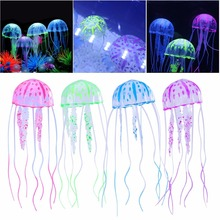 Glowing Effect Fish Tank Decor Aquarium Artificial Silicone Vivid Jellyfish