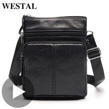 Westal ทำงานไหล่ Messenger ธุรกิจผู้หญิงผู้ชายกระเป๋าหนังแท้กระเป๋าถือกระเป๋าถือชายหญิงขนาดเล็กแบบพกพา