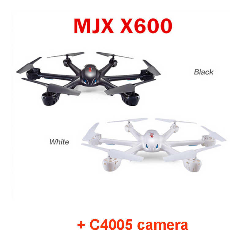 MJX X600 With C4005 camera  2.4GHz  6-Axis Gyro Headless Mode One Key Return WIFI FPV RC Quadcopter  RTF with more battery original jjrc h12c drone 6 axis 4ch headless mode one key return rc quadcopter with 5mp camera in stock