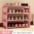 ENVÍO gratis 3 Tier estantes Vitrinas Zapato No tejida sencilla sala de estar decoración para el hogar de almacenamiento de residuos