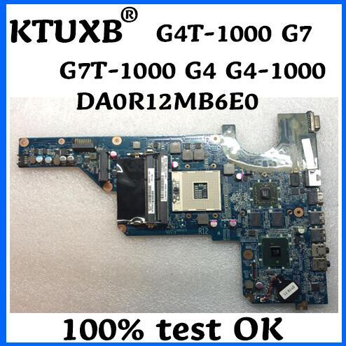 KTUXB 636372 001 HP Pavilion G4T 1000 G7 G7T 1000 G4 G4 1000 Laptop Motherboard DA0R12MB6E0