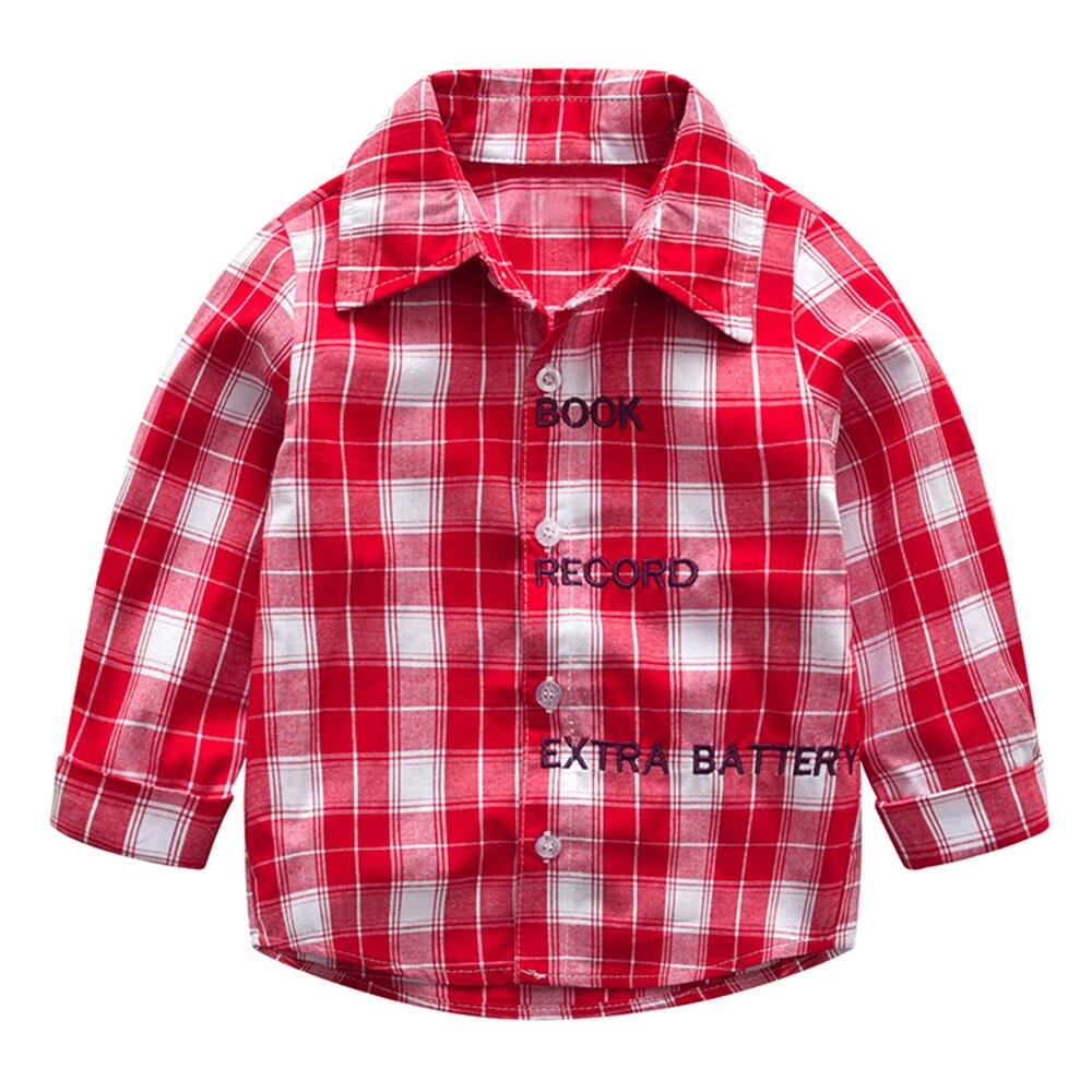 MUQGEW Blouse Shirts Tops Long-Sleeve Gentleman Autumn Toddler Baby-Boys-Girls Kids Summer