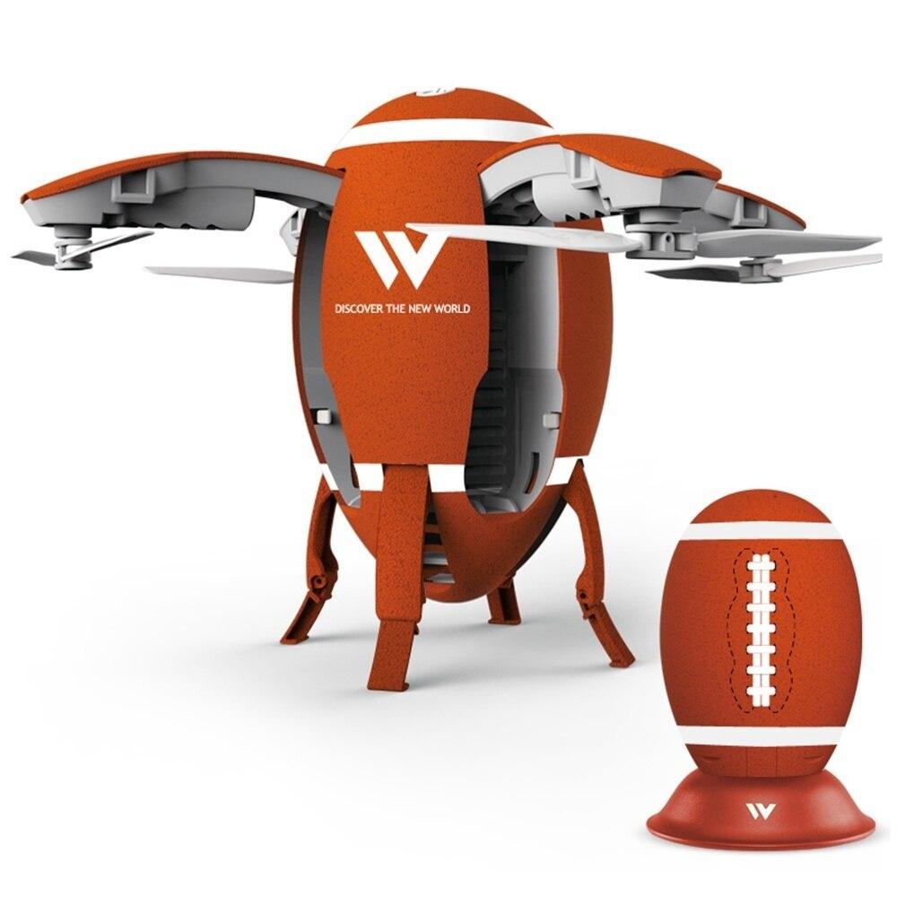 2018 New Mini 0.3MP HD Camera Headless Mode Wireless Transformable Drone 6-Axis Gyro G-Sensor Flying Egg Ball RC W5 Aircaft