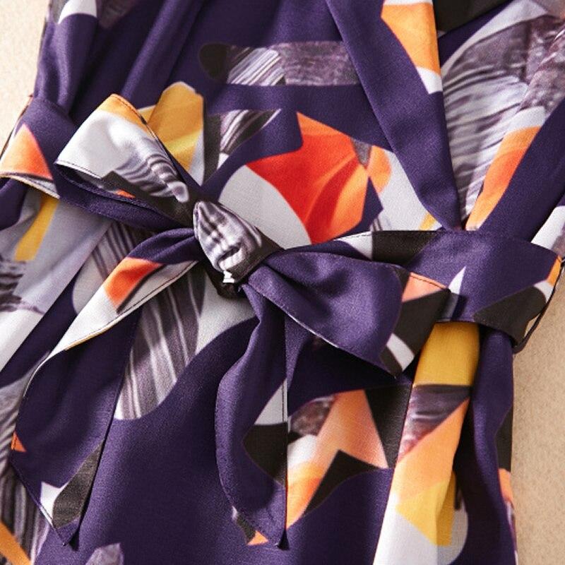 Col Sans line Turn Géométrique A Mode Robe Dresses down Manches K1051 Robes Femmes Vente Chaude Imprimé A ligne Awq8a1S