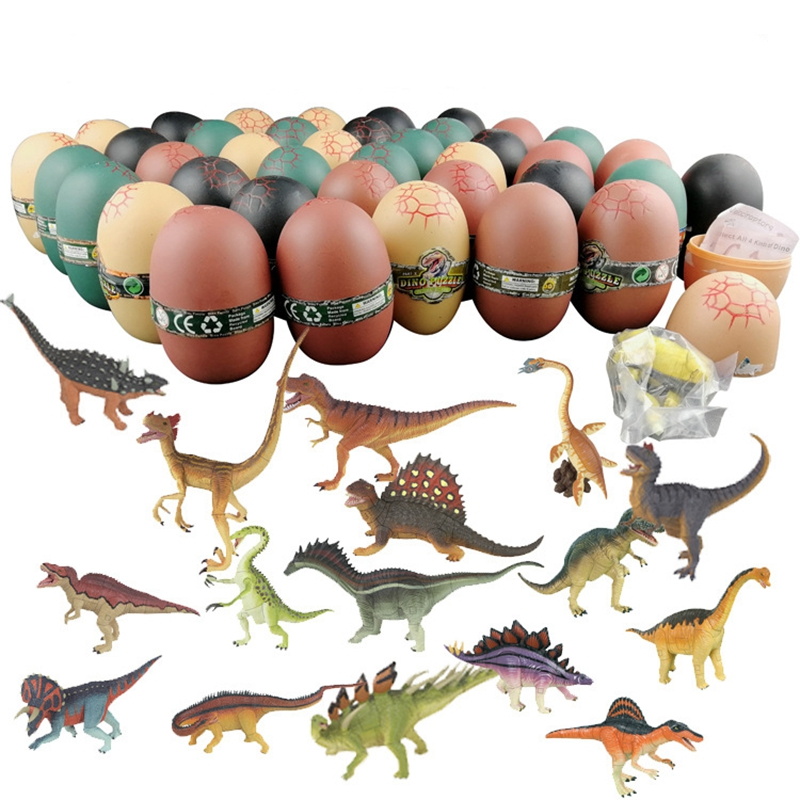 4pcs/lot Big Size Hatching Growing Dinosaur Eggs Novelty Gag Magic Surprise Eggs Toys For Kids Children Gift Educational Play