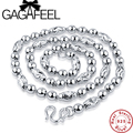 GAGAFEEL 100% Real 925 Sterling Silver Men Jewelry Olive Necklace  Thick Long Mens Chain 20inch 22inch