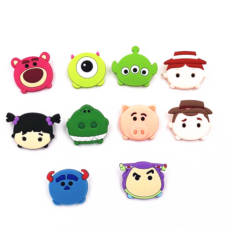 1pcs Cartoon Woody Buzz Monster Mr.q Pvc Icons Brooch Pins Badge Anime Brooches Backpack Clothes Hat Decor Scarf Buckle