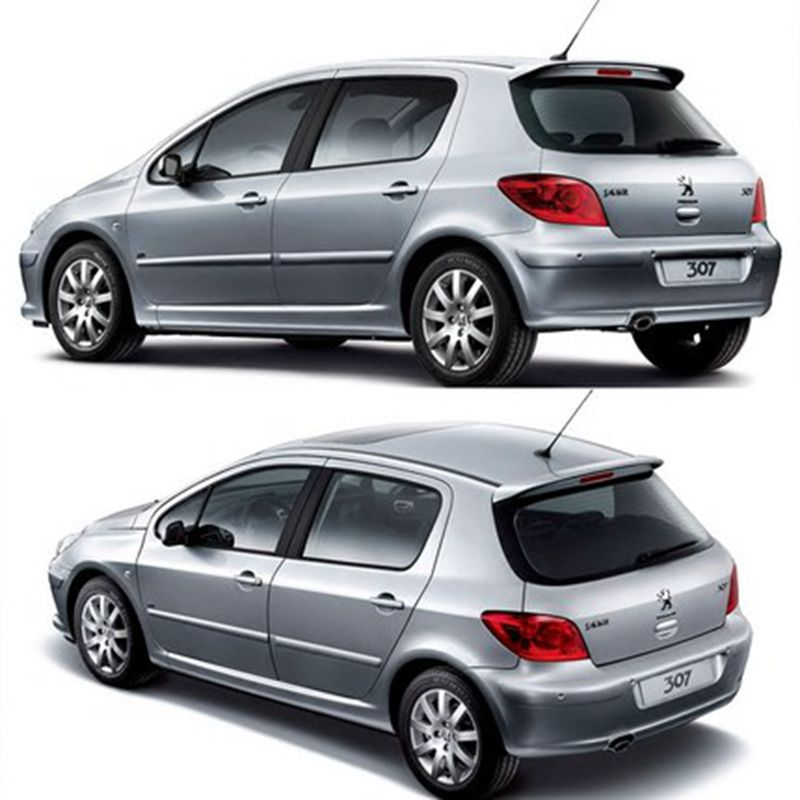 MONTFORD For Peugeot 307 Spoiler 2006 2007 2008 2009 2010 2011 2012 ABS Plastic Unpainted Color Rear Trunk Wing Lip Spoiler
