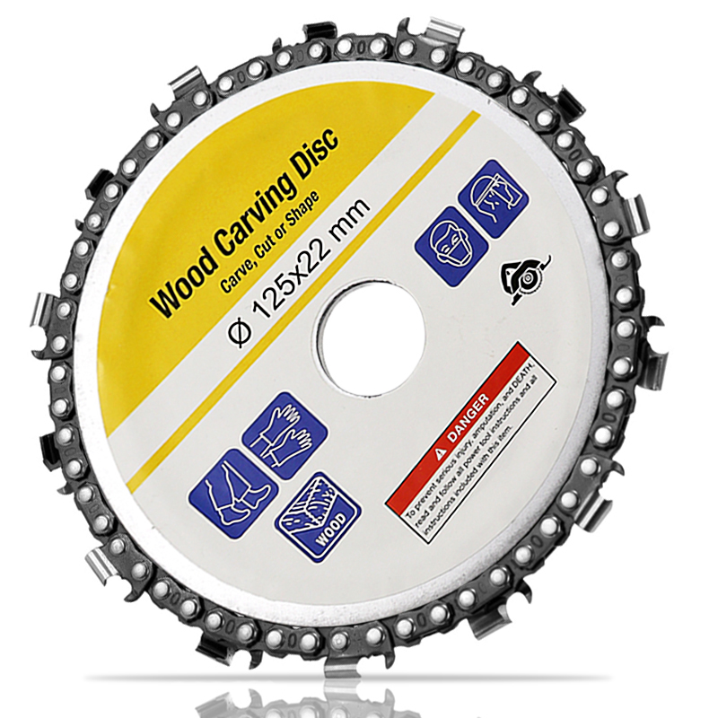 5 Inch Grinder Disc and Chain 14 Tooth Fine Abrasive Cut For 125x22mm Angle