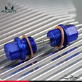 2PCS M18x1.5 Magnetic Engine Oil Pan Drain Filter Adsorb Plug Bolt + Washer Blue
