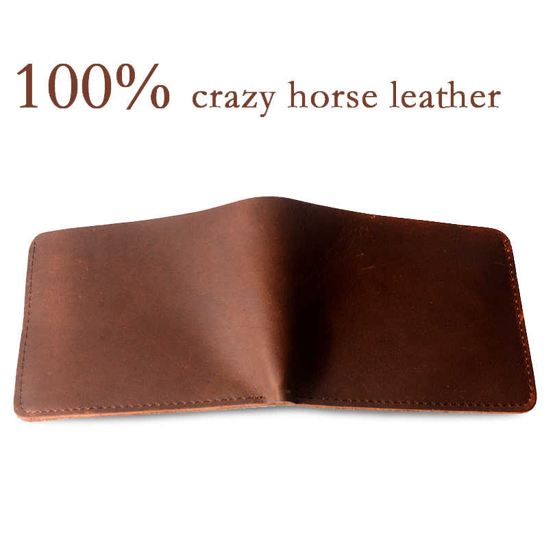 COHEART Brand Wallet Men 100% genuine leather wallet crazy horse leather wallet purse male clutch Top Quality Guarangee !