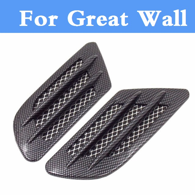 Car Shark gill air Flow Grille Decoration Sticker For Great Wall Coolbear Florid Hover Hover H3 Hover H5 H6 Voleex C10 C30 наушники mrspeakers ether c flow