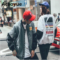 Japanese MA1 Bomber Jacket Harajuku Pilot Street Printing Kodak Jackets Men Women Coat Brand Clothing Outerwear