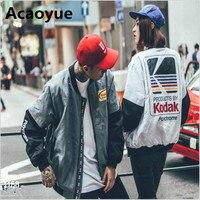 Japanese MA1 Bomber Jacket Harajuku Pilot Street Printing Kodak Jackets Men Women Coat Brand Clothing Outerwear