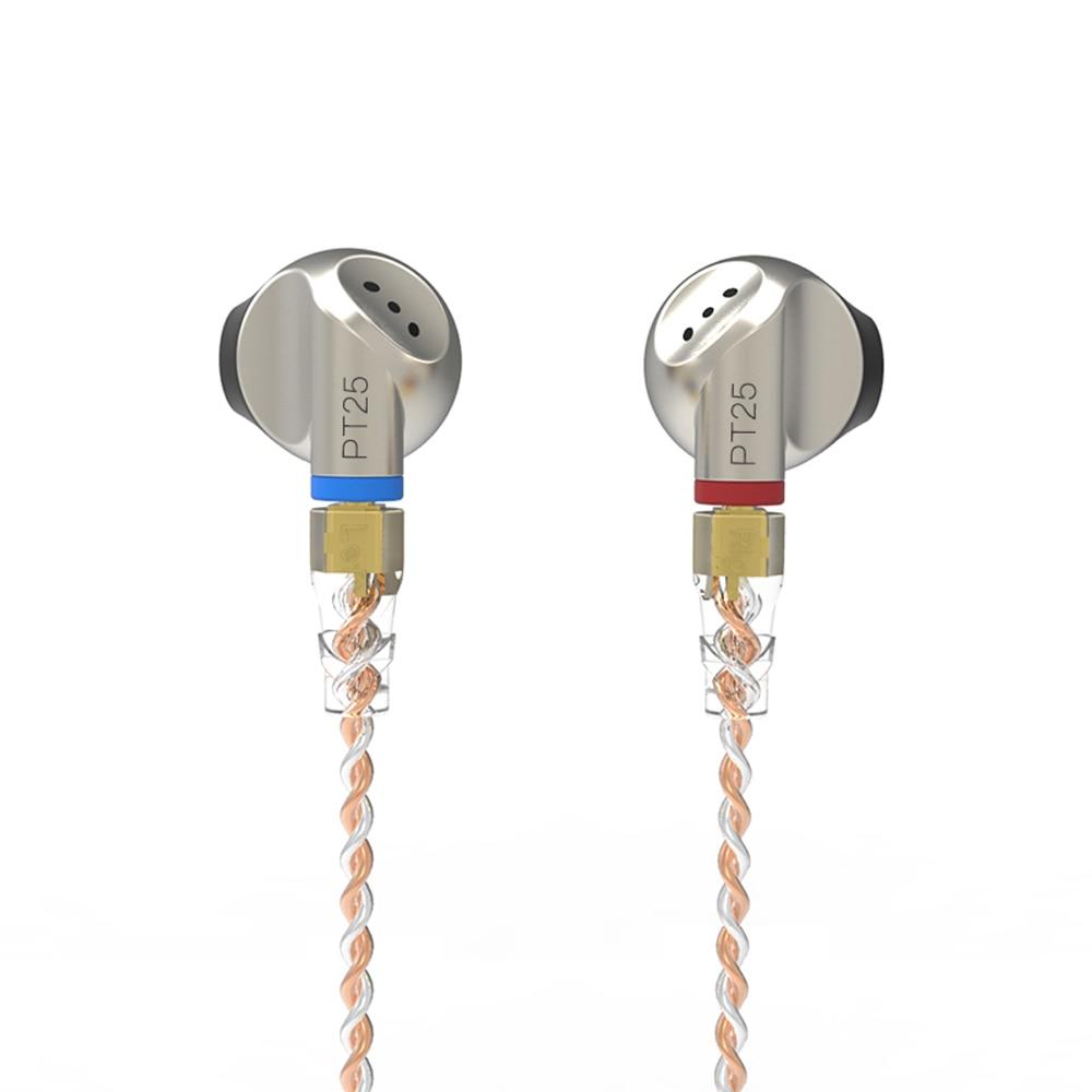 SENFER PT25 In Ear Earphone Earburd Graphene Dynamic Driver Unit HIFI Earplug With MMCX Detachable Detach Cable Metal Earbud