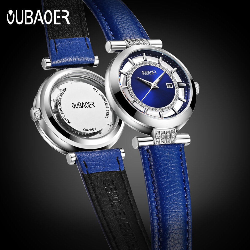 Women Watches OUBAOER Luxury Brand Quartz Casual Simple Fashion Bracelet Watch Ladies Wrist Watch for Women Relogio Feminino relogio feminino sinobi watches women fashion leather strap japan quartz wrist watch for women ladies luxury brand wristwatch