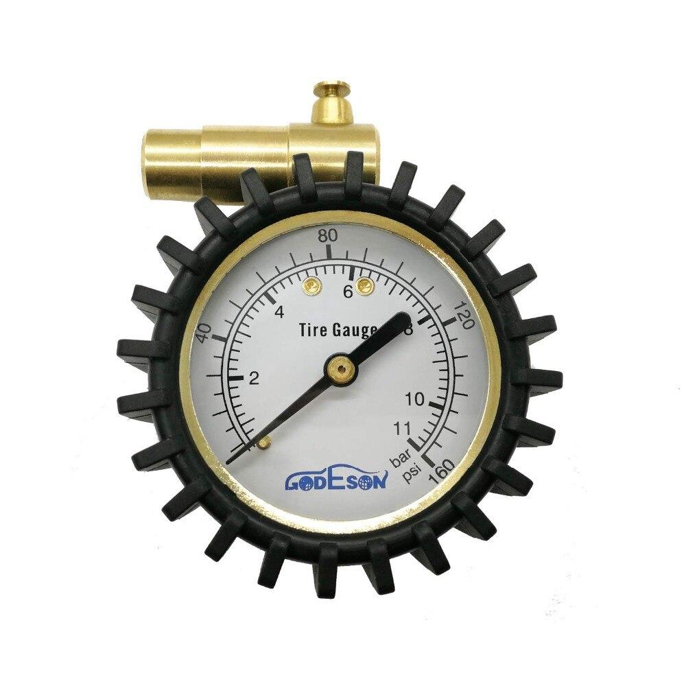 Bicycle Bike MTB Air Pressure Gauge 160Psi Tire Meter For Presta //Schrader valve