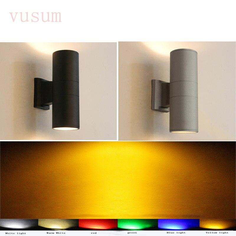 Moderne mur extérieur lampe décoration double tête 6 w 12 w 24 w 36 w LED extérieure étanche en aluminium mur lampe