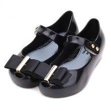 Mini Melissa 2017 Arc Filles Sandales Gelée Chaussures Princesse Chaussures Doux Confort En Bas Âge Fille Melissa Enfants Sandales 13-18 CM