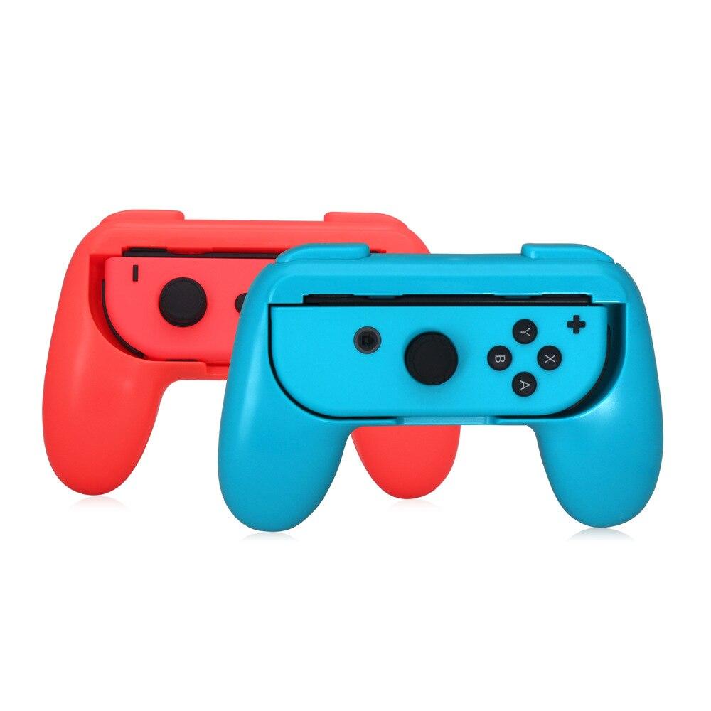2 pçs/set Silicone Apertos Controlador Interruptor Alegria Alegria-Con Case Para Nintend Con Handle NS N-Switch Para console do jogo Acessórios