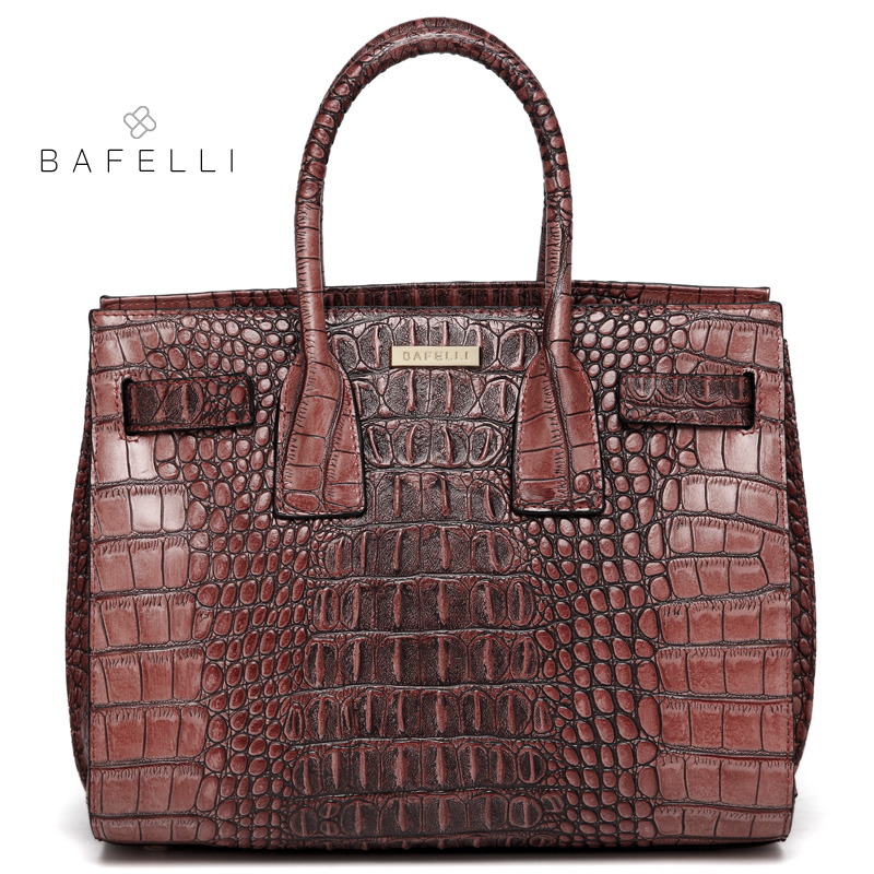 BAFELLI bags for women 2018 crocodile split leather shoulder bag alligator luxury handbag bolsa feminina women messenger bag women messenger bags cow split leather bag female handbag fashion crocodile evening bags red shoulder bag handbags bolsa tasche