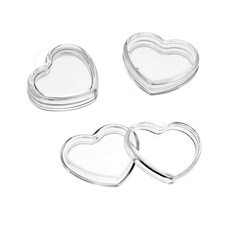 High Transparent Clear Storage Box Heart Shaped Packaging Boxes