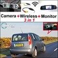 3 in1 Especial Câmera de Visão Traseira Sem Fio + Receptor + Monitor Espelho Sistema de Estacionamento de Backup Para Skoda Roomster (tipo 5J) 2006 ~ 2014